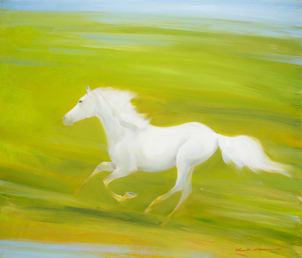 アート展「桜ほこる春 野に遊ぶ馬 長門和恵展」