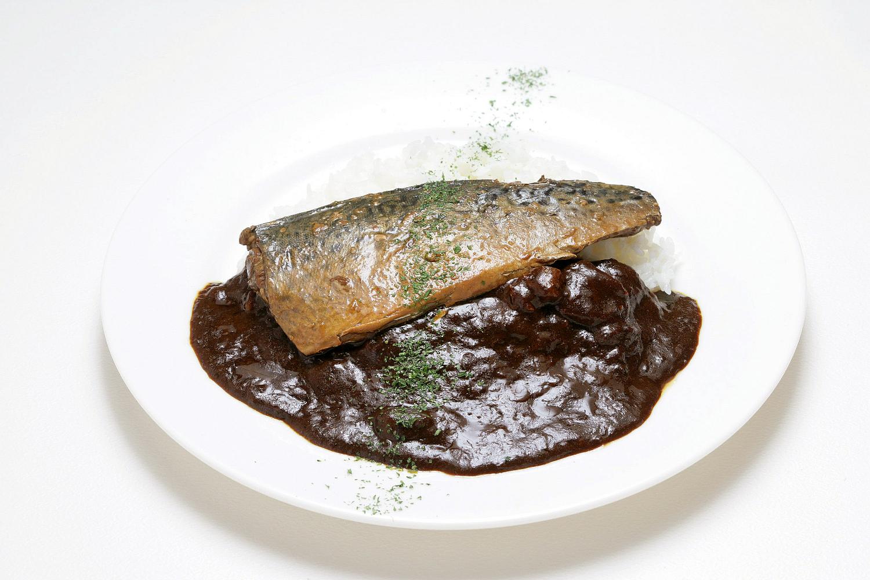 鯖味噌カレー皿